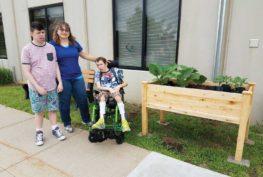 Shakopee raised garden at ProAct.