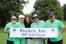 Ken Koch, second from left, has supported the nonprofit for 20-plus years through the ProAct Golf Classic. The 2019 event is August 26.