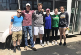 Zumbrota High School students community service project at ProAct.