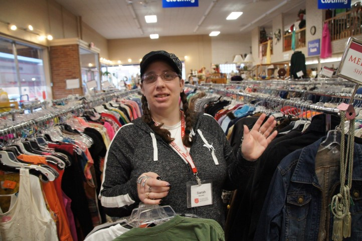 Prepared, supported, confident in thrift store job