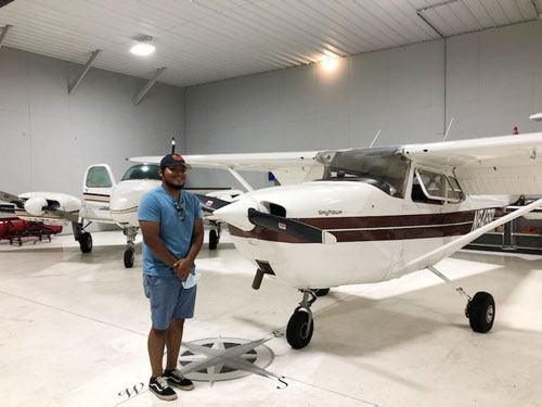 Helping student to pursue his 'wings'