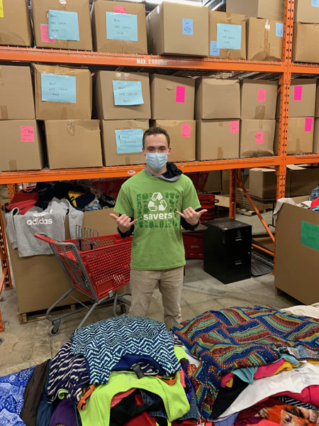 Pre-ETS student preps product, adapts, grows skills At 19, transition school student  David Robins already has some good work experience, and ProAct helped  him find a new job at Savers in Apple Valley